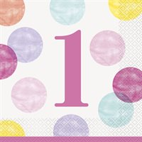 1st Birthday - Pink Dots