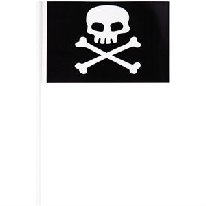 PIRATES MAP - FAVOR PLASTIC PIRATE FLAGS