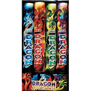 FEUX D'ARTIFICE - ASSORTIMENT DRAGON 4/PQT