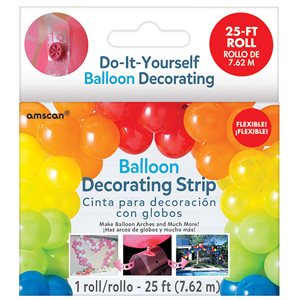 BALLOON DECORATING STRIP - CLEAR, 25'