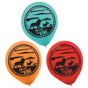 THE LION KING PRINTED LATEX BALLOONS 6CT.