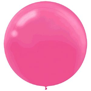 ROUND 24 IN. LATEX BALLOONS 4/PKG