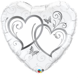ENTWINED HEARTS SILVER 36'' HRT