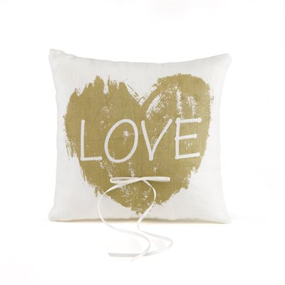 COUSSIN À ALLIANCES LOVE OR