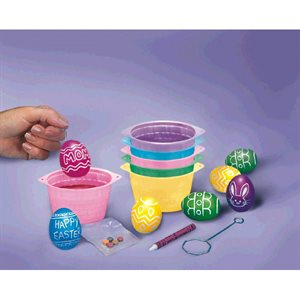 EGG DYING KIT COLORING CUPS
