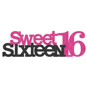 CENTRE DE TABLE SCINTILLANT - SWEET 16