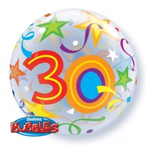 30 BRILLIANT STARS 22'' BUBBLE