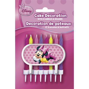 MINNIE MOUSE - DÉCORATIONS À GÂTEAU 8/PQT