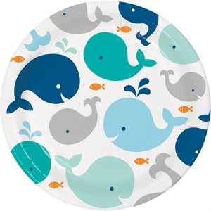 DINNER PLATES 8/PKG - LIL'SPOUT BLUE