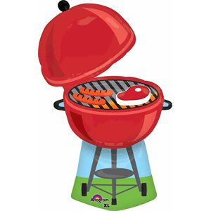MYLAR 36 PO. BARBECUE ROUGE