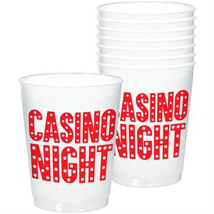 CASINO FROSTED STADIUM CUP 25/PKG