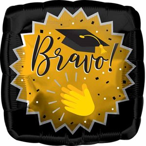 MYLAR 18 PO. GRADUATION EMOTICONE BRAVO