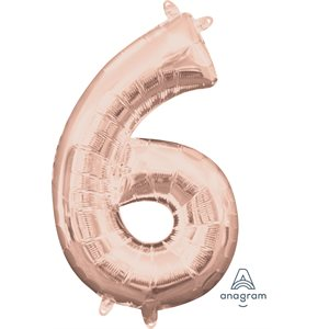 NUMBER #6 ROSE GOLD 16'' SHAPE