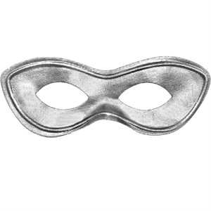 MASQUE DE SUPER HERO - ARGENT