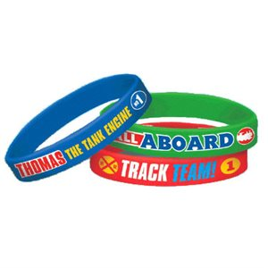 RUBBER BRACELETS 6/PKG - THOMAS ALL ABOARD