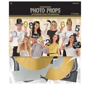 PROPS PHOTO NEW YEARS COUNTDOWN 12/PKG