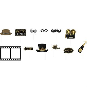 GLITZ & GLAM HOLLYWOOD - ACCESSOIRES POUR PHOTOBOOTH 8/PQT