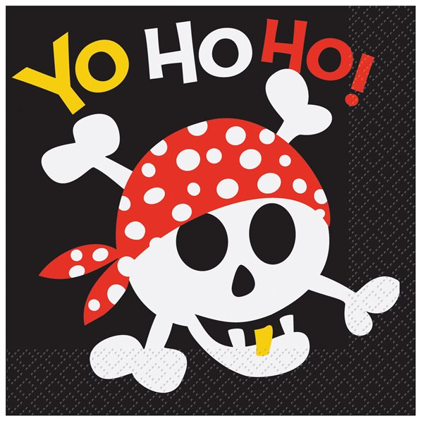PIRATE FUN LUNCHEON NAPKINS 16CT