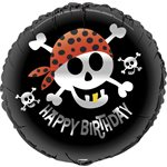 PIRATE FUN ROUND FOIL BALLOON 18'' PACKAGED