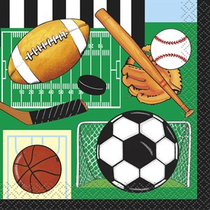 CLASSIC SPORTS BEVERAGE NAPKINS 16CT