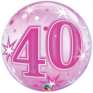 40 PINK STARBURST 22'' BUBBLE