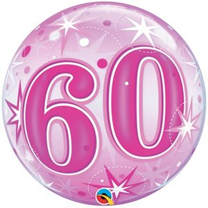 60 PINK STARBURST 22'' BUBBLE