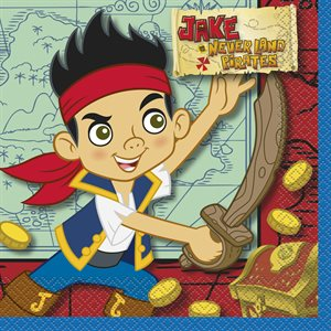 NAPKINS JAKE ET LES PIRATES GRANDES 16/PQT