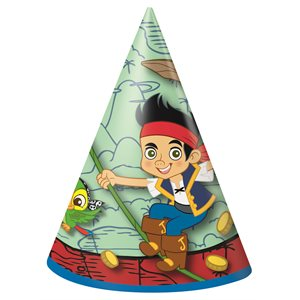 JAKE AND THE NEVERLAND PIRATES PARTY HATS 8/PKG