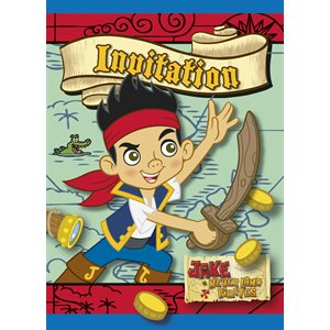 INIVITATION JAKE ET LES PIRATES