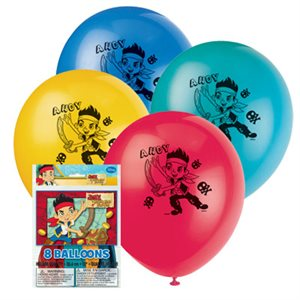 Ballons 12 po. Jake et les Pirates 8/pqt