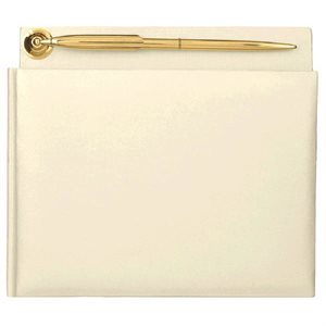 GUEST BOOK IV PEARLIZED WITH PEN