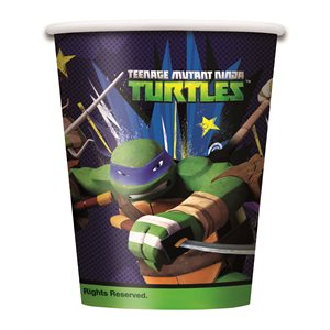 TORTUES NINJA - VERRES 9 OZ. 8/PQT