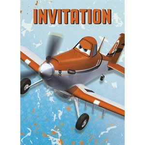 CARTES D'INVITATION LES AVIONS 8/PQT
