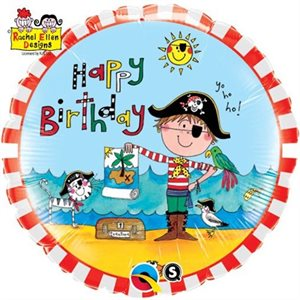 BIRTHDAY PIRATE 18'' MYLAR