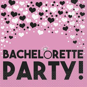 SERVIETTES REPAS 16/PQT - BACHELORETTE PARTY