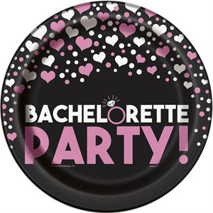 ASSIETTES 9 PO. BACHELORETTE PARTY 8/PQT