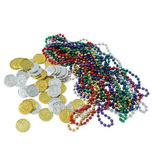 TREASURE LOOT (62PK)12 CS (BEADS-COINS)