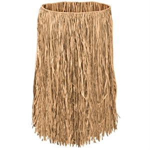 31X28 ADULT RAFFIA HULA SKIRT NATURAL