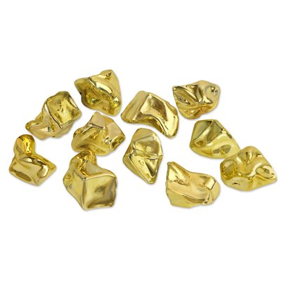 GOLD PLASTIC NUGGETS
