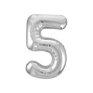 NUMBER #5 SILVER SHAPE 34''