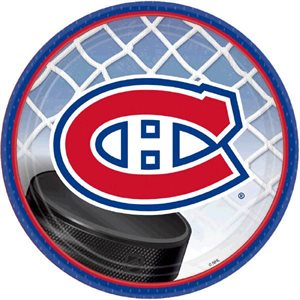 LNH CANADIENS - ASSIETTES 7 PO. 8/PQT