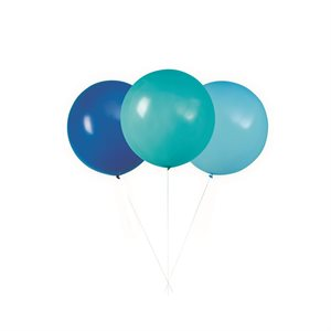 3 24'' GIANT BALLOON BLUE/TEAL
