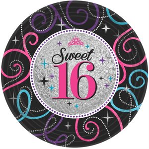 ASSIETTES 9 PO. 8/PQT - SWEET 16