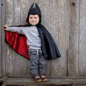 REVERSIBLE SPIDER/BAT TODDLER CAPE - SIZE 2-3T