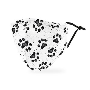 ADULT PROTECTIVE CLOTH FACE MASK - PAW PRINT