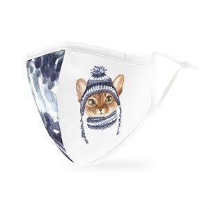 ADULT PROTECTIVE CLOTH FACE MASK - COZY CAT