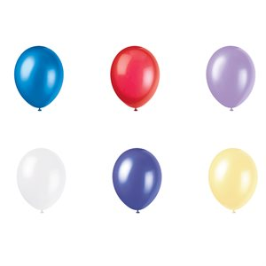 12'' PEARLIZED LATEX BALLOONS 50CT - ASSORTED PASTEL