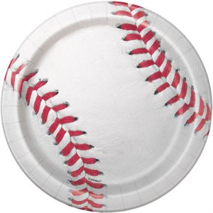 ASSIETTES 7 PO. 8/PQT - BASEBALL