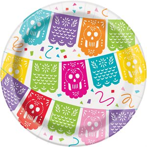 ASSIETTES 7 PO. 8/PQT - FIESTA MEXICAINE