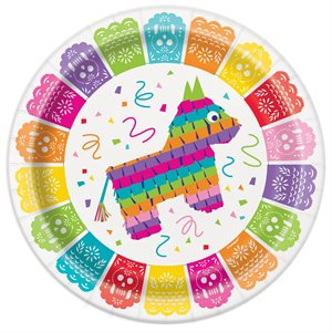 ASSIETTES 9 PO. 8/PQT - FIESTA MEXICAINE